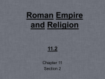 Roman Empire and Religion