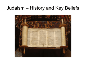 Roots and key beliefs Judaism-2