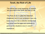 Torah, the Rule of Life