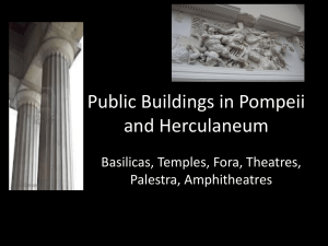 Public Buildings in Pompeii and Herculaneum