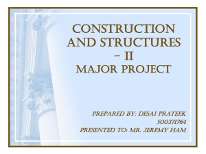 CONSTRUCTION AND STRUCTURES – II MAJOR ASSIGNMENT