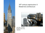 20th century expressions IV – Modernist architecture