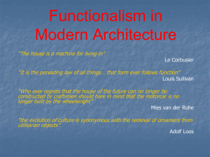 09 Functionalism in Modern Architecture