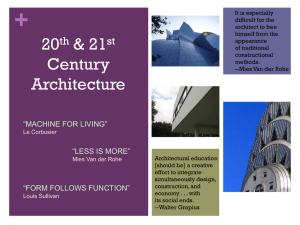 20th & 21st Century Architecture