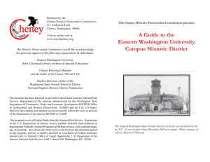 A Guide to the The Cheney Historic Preservation Commission presents