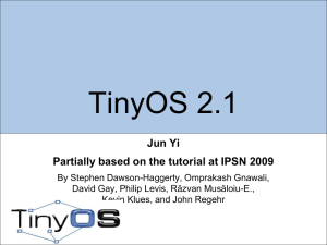 Teaching Assistant`s TinyOS Tutorial