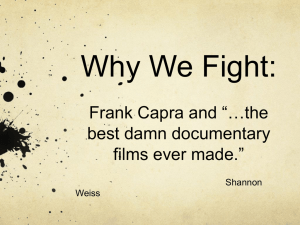 Why We Fight: Frank Capra and **the best damn