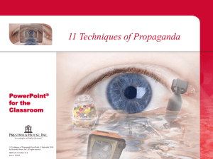 11 Techniques of Propaganda Part 1