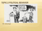 Topic 2 political behavior - South Dade Senior High School