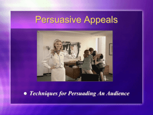 Persuasive Appeals - Mrs. Reyes's Ninth Grade English