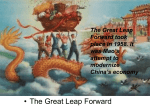 an analysis of the topic of the great leap forward and the role of mao To distribute resources evenly will only ruin the great leap forward, mao warned colleagues a year later when there is not enough to eat, people starve to death it is better to let half the.