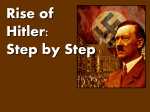 Hitler: Step by Step - Mrs. Silverman: Social Studies