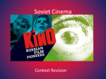 Soviet Cinema - Hinchingbrooke School