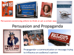 Persuasion and Propaganda - Moshannon Valley School
