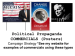 Political Propaganda Posters and Commericals Powerpoint