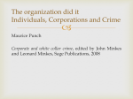 The organization did it Individuals, Corporations and Crime