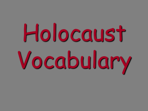 Holocaust Vocabulary - Campbell County Schools