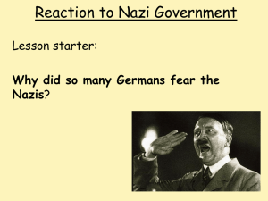 Reaction to Nazi Government