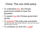 chinas one child policy