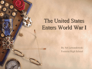 The United States Enters World War I