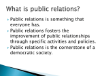 What is public relations?