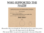 WHO supported the NAZIS?