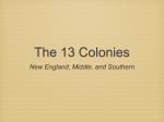 The 13 Colonies - Scarsdale Schools