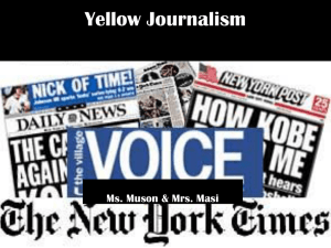 Yellow Journalism & Imperialism