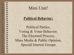 Unit Two: Political Behavior: Gov`t by the People