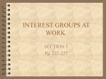 INTEREST GROUPS AT WORK