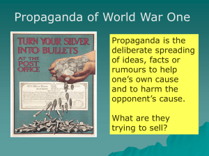 to conserve resources Methods used in Propaganda
