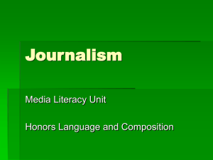Journalism - HyattLangandCompHonors