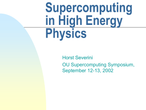 Supercomputing in High Energy Physics