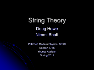 String Theory - Santa Rosa Junior College