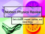 Modern Physics Review