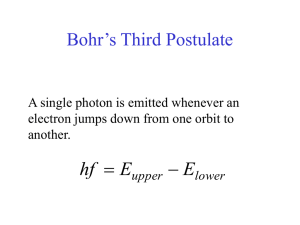 Bohr´s Third Postulate