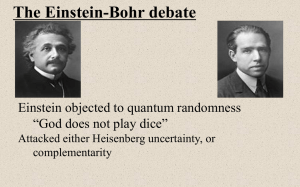 HTPIB27O The Einstein-Bohr Debate