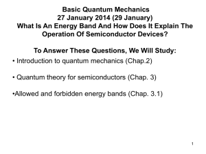 Notes27and29January2014BasicQuantumMechanics