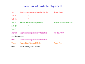 Lecture 1 - Particle Physics Group