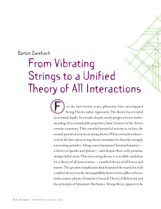 F From Vibrating Strings to a Unified Theory of All Interactions