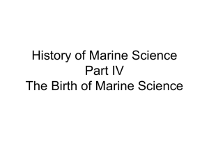 Marine Science a Modern Perspective