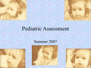 Pediatric Testing