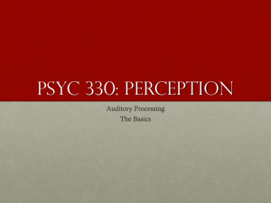 PSYC 330: Perception