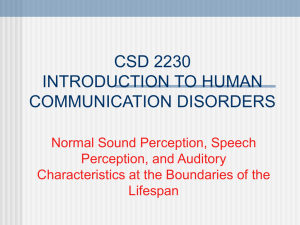 CSD 3100 NORMAL ASPECTS OF HUMAN COMMUNICATION