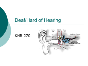 Visual Impairments & Deaf/Hard of Hearing