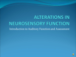 ALTERATIONS IN NEUROSENSORY FUNCTION
