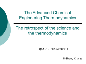 The retrospect of the science and the thermodynamics
