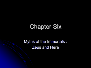 Chapter Six - Myths of the Olympians: Zeus & Hera