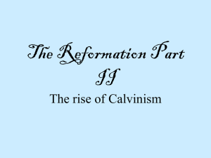 The Reformation Part II