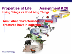 Properties of Life - Mr. Le's Living Environment Webpage